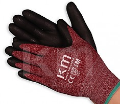 KM NBR COATING FORM GLOVE 산업용 작업 장갑 RED/BLACK