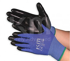 KM NBR COATING GLOVE 산업용 작업 장갑 BLUE/BLACK