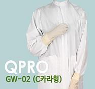 [QPRO] 방진복/제전복/무진복 가운 기본 C카라형 (미얀마산)