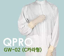 Q-DAY [QPRO] 방진복/제전복/무진복 가운 기본 C카라형 (미얀마산)