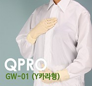 [QPRO] 방진복/제전복/무진복 방진 가운 기본 Y카라형 (미얀마산)