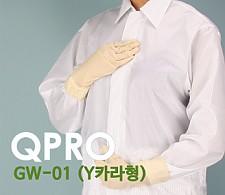 Q-DAY [QPRO] 방진복/제전복/무진복 가운 기본 Y카라형 (미얀마산)