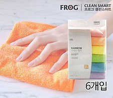 FROG 레인보우 극세사 행주 6개입